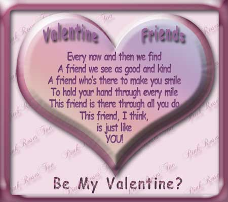Valentine Friend written by Jan for PinkRosesToo